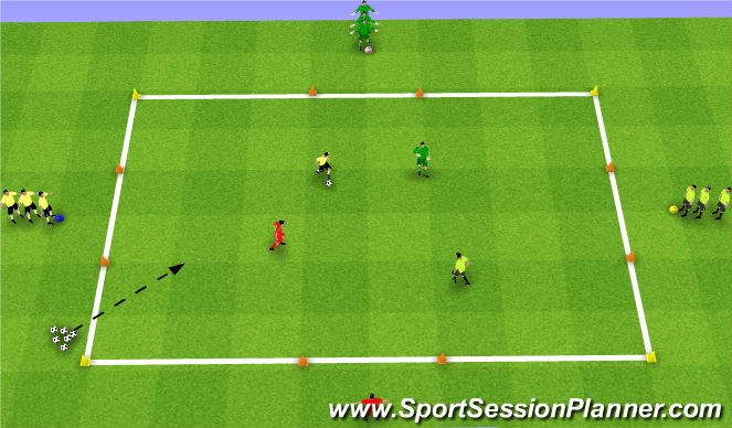 Football/Soccer Session Plan Drill (Colour): Elimination Numbers Game