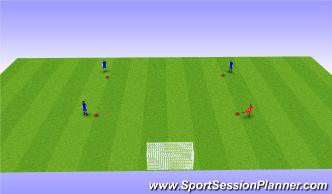 Football/Soccer Session Plan Drill (Colour): Possession + finishing