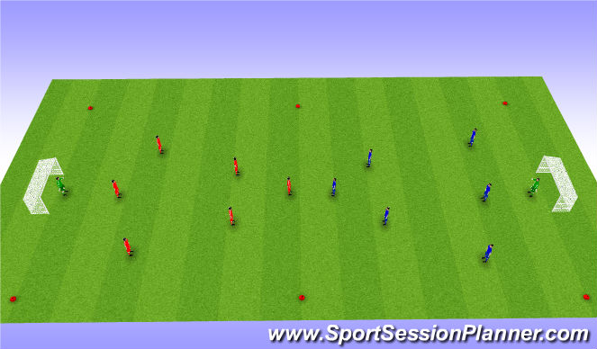 Football/Soccer Session Plan Drill (Colour): Big scrimmage
