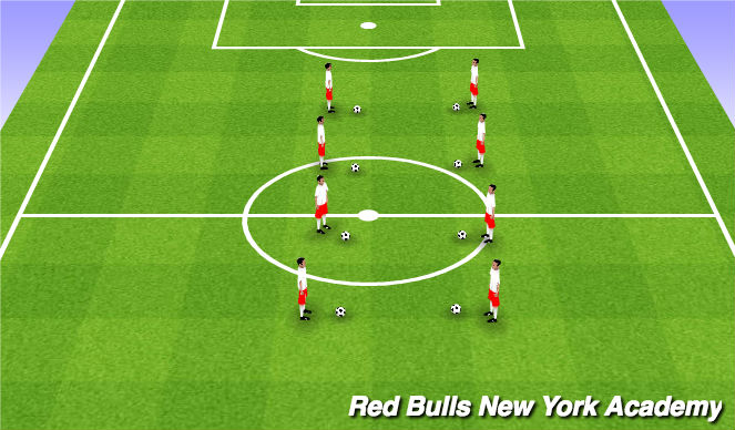 Football/Soccer Session Plan Drill (Colour): Juggling/Ball Mastery