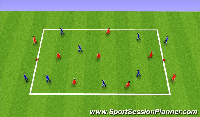 Football/Soccer Session Plan Drill (Colour): 6v6+4 Possession