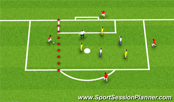 Football/Soccer Session Plan Drill (Colour): Extended Sided