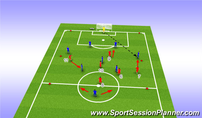 Football/Soccer Session Plan Drill (Colour): movements of the trap