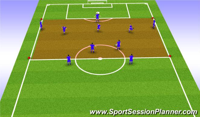 Football/Soccer Session Plan Drill (Colour): 11v11 (final 3rd