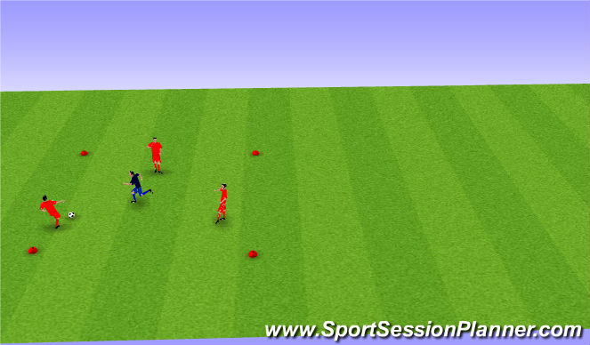 Football/Soccer Session Plan Drill (Colour): BU 11 passing & receiving with pressure