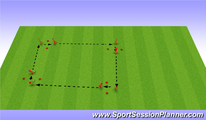 Football/Soccer Session Plan Drill (Colour): BU 11 passing & receiving