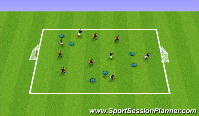 Football/Soccer Session Plan Drill (Colour): ODP Week 3 6:00-8:00