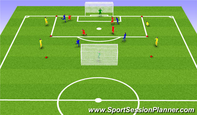 Football/Soccer Session Plan Drill (Colour): Skilyrtur leikur og spil: