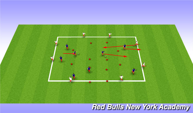 Football/Soccer Session Plan Drill (Colour): Main Activity Week 2