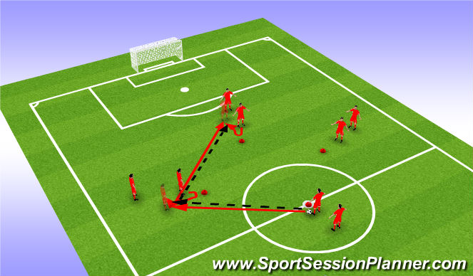 Football/Soccer Session Plan Drill (Colour): Tiki Taka - 8 Player Diamond