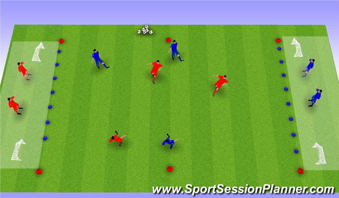Football/Soccer Session Plan Drill (Colour): SSG - Quick play to get out
