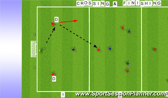 Football/Soccer Session Plan Drill (Colour): functional session on pitch A
