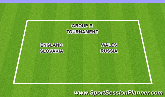 Football/Soccer Session Plan Drill (Colour): Group B Euro Tournament!