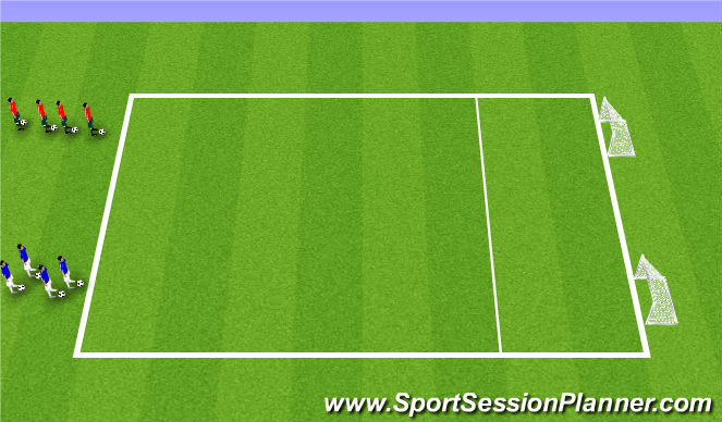 Football/Soccer Session Plan Drill (Colour): 1v1 Essential game 1