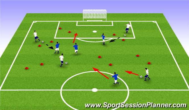 Football/Soccer Session Plan Drill (Colour): ODP Week 3 5:00-600