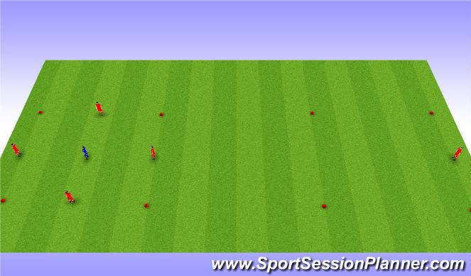 Football/Soccer Session Plan Drill (Colour): Possession 4v1+1