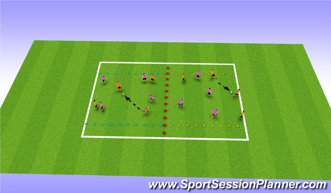 Football/Soccer Session Plan Drill (Colour): Conditioned Match