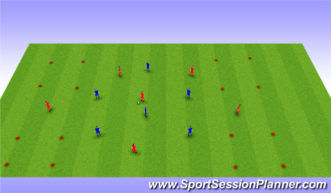 Football/Soccer Session Plan Drill (Colour): Possession (4 corners)