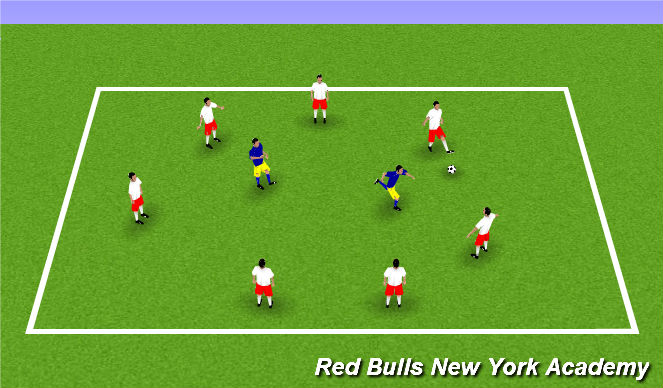 Football/Soccer Session Plan Drill (Colour): Warmup Rondo