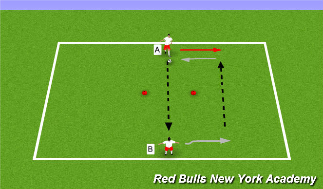 Football/Soccer Session Plan Drill (Colour): Ladders - Unopposed