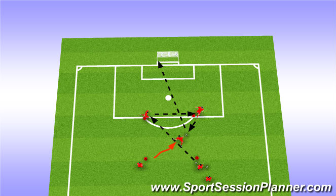 Football/Soccer Session Plan Drill (Colour): Team layoffs