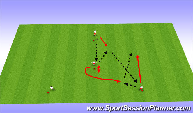 Football/Soccer Session Plan Drill (Colour): Continue