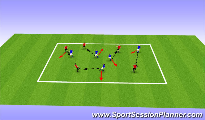 Football/Soccer Session Plan Drill (Colour): Spring/Summer