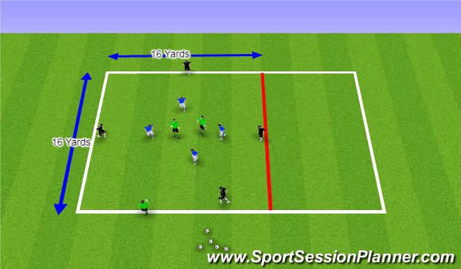 Football/Soccer Session Plan Drill (Colour): Rondo 11 Players