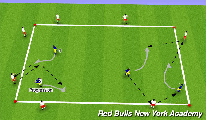 Football/Soccer Session Plan Drill (Colour): Warm-UP/Technical Reps