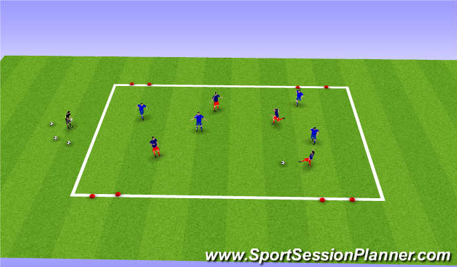 Football/Soccer Session Plan Drill (Colour): 4v4 small sided game