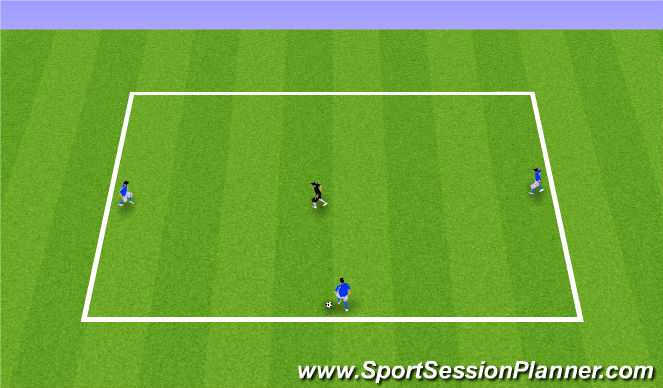 Football/Soccer Session Plan Drill (Colour): 3v1 (Arrival Game)