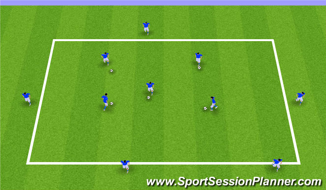 Football/Soccer Session Plan Drill (Colour): 1) Passing & Receiving