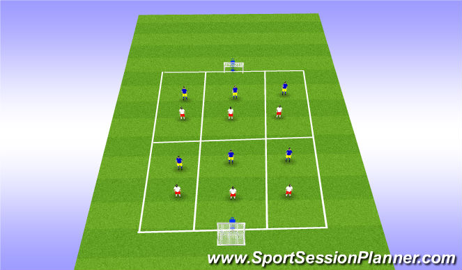 Football/Soccer Session Plan Drill (Colour): Box Play