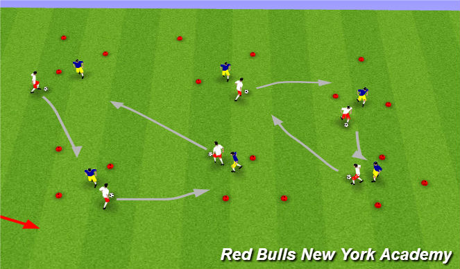 Football/Soccer Session Plan Drill (Colour): Maine Theme 2