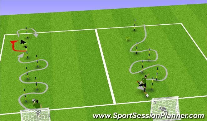 Football/Soccer Session Plan Drill (Colour): SpeedDribble