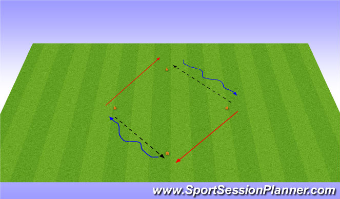 Football/Soccer Session Plan Drill (Colour): Diamond - Step on, Passing & Receiving