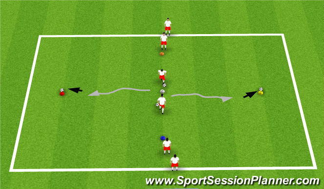 Football/Soccer Session Plan Drill (Colour): COD Moves