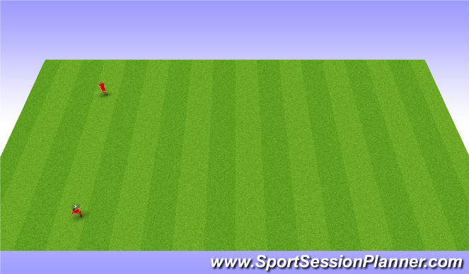 Football/Soccer Session Plan Drill (Colour): Long Passing - Skill Intro