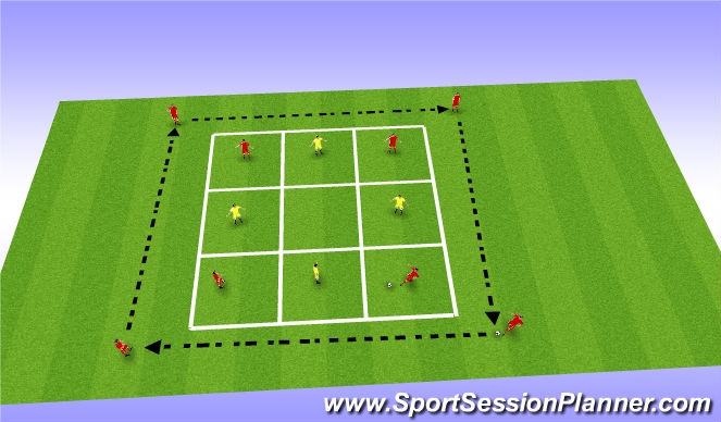 Football/Soccer Session Plan Drill (Colour): Long Passing - Skill Training