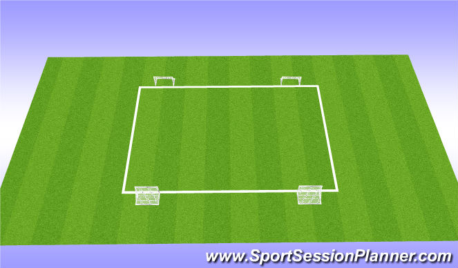 Football/Soccer Session Plan Drill (Colour): Long Passing - Game