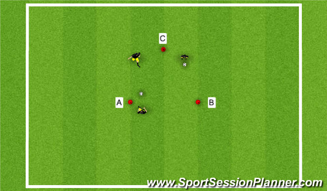 Football/Soccer Session Plan Drill (Colour): Quick Feet Warm-up