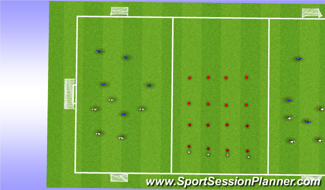 Football/Soccer Session Plan Drill (Colour): Small side: 5v5