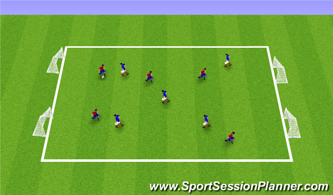 Football/Soccer Session Plan Drill (Colour): ODP 6;00/8;00 SSG