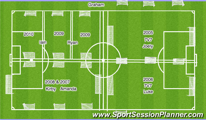 Football/Soccer Session Plan Drill (Colour): GIRLS - U7 - U12 - 7.45 - 8.30pm