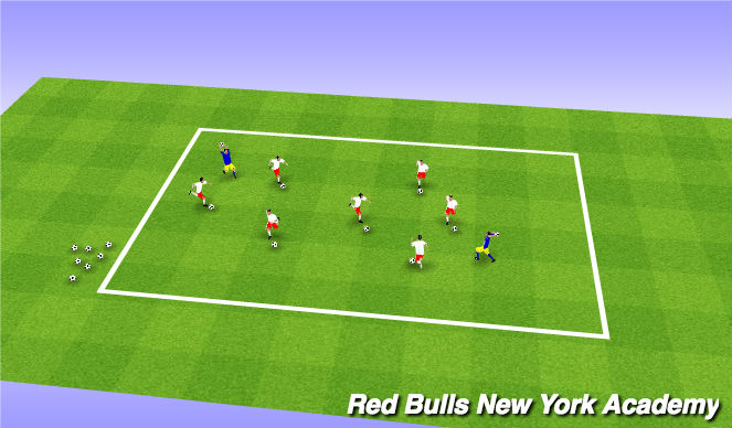 Football/Soccer Session Plan Drill (Colour): Ghostbusters