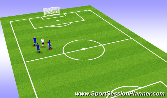 Football/Soccer Session Plan Drill (Colour): 3v1 possesion