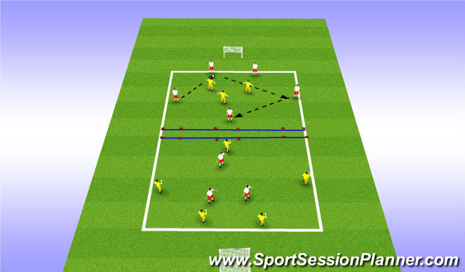 Football/Soccer Session Plan Drill (Colour): 5v3 Competition