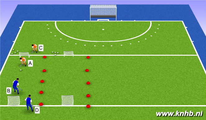 Hockey Session Plan Drill (Colour): Oefening 5