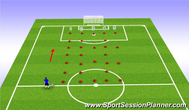 Football/Soccer Session Plan Drill (Colour): ADP Tuesday 14th