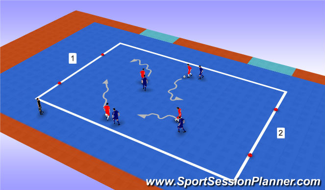 Futsal Session Plan Drill (Colour): Basic
